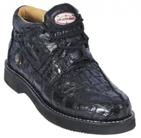 Black Genuine AllOver Crocodile Casual Shoes