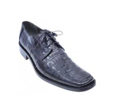 Black Genuine AllOver Crocodile Shoes 4