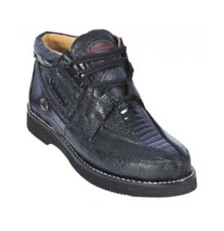 Black Genuine AllOver Ostrich Leg Casual Shoes