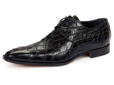 Black Mauri Sipario Italy Mens Lace Up Alligator Skin Italian Dress Shoes 03ad1a8cb48