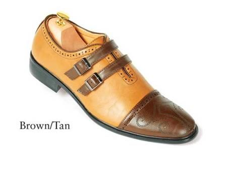 Browntan dress shoes for men