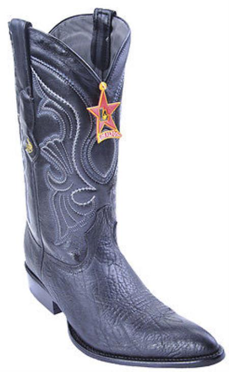 Bull Shoulder Black Los Altos Mens Cowboy Boots Western Classics Riding