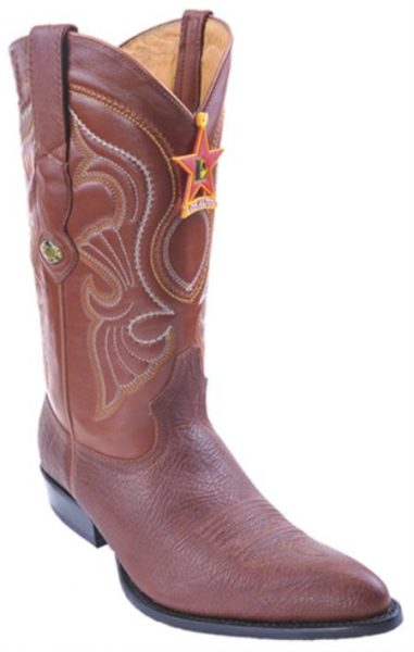 Bull Shoulder Cognac Brown Vintage Los Altos Mens Cowboy Boots Western Riding