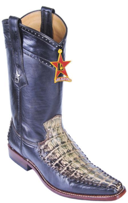 Caiman Belly Rustic Green Los Altos Mens Cowboy Boots Western Classics Rider 290