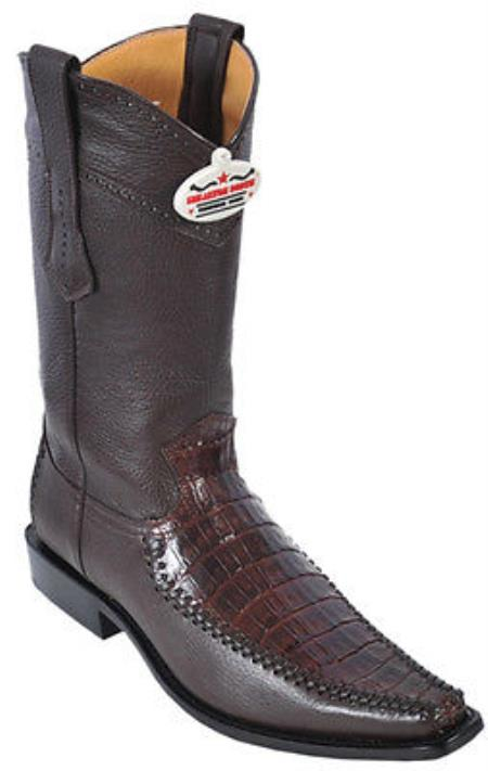 Caiman Belly Vintage Brown Los Altos Mens Cowboy Boots Western Classics Style 290