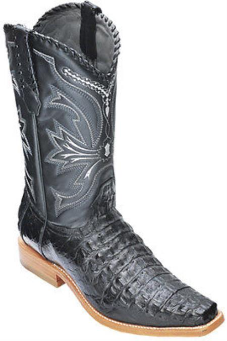 Caiman Croc Black Los Altos Mens Cowboy Boots Western Classics Riding 340