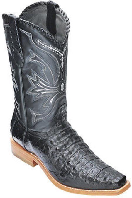 Caiman Croc Black Los Altos Mens Cowboy Boots Western Classics Riding 340
