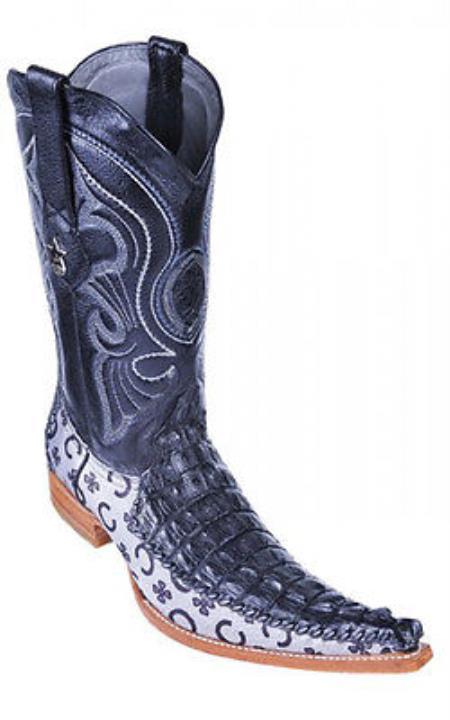Caiman Croc Black Los Altos Mens Cowboy Boots Western Fashion Riding 290
