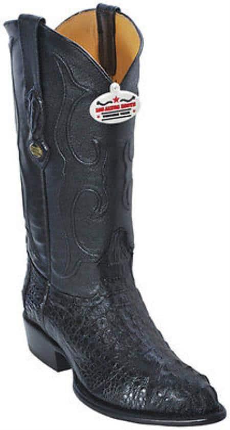 Caiman Hornback Black Los Altos Mens Cowboy Boots Western Classics Riding