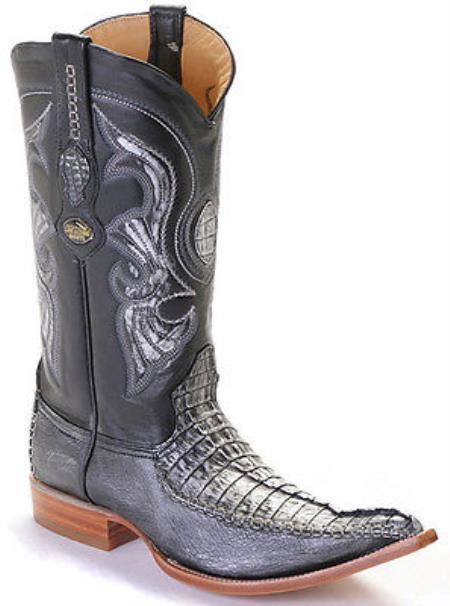 Caiman TaBlack Silver Los Altos Mens Cowboy Boots Western Classics Riding 290