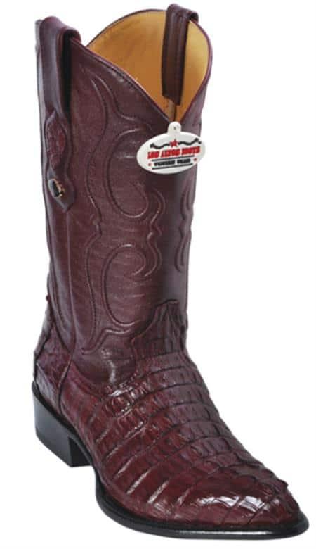 Caiman TaBurgundy Brown Los Altos Mens Cowboy Boots Western Rider Style
