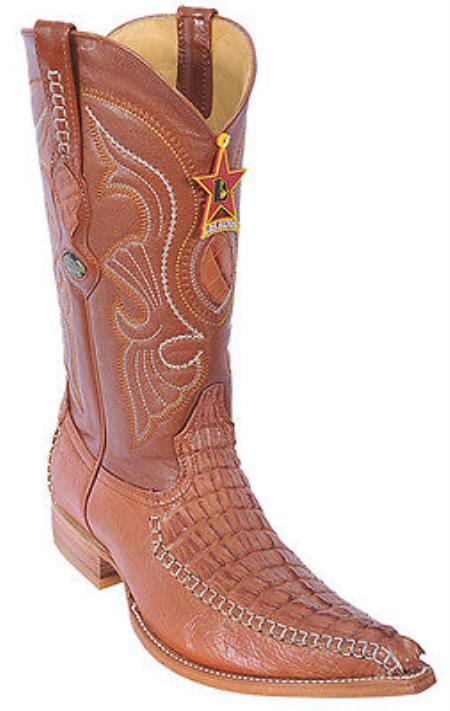 Caiman TaCognac Brown Vintage Los Altos Mens Cowboy Boots Western Riding 290