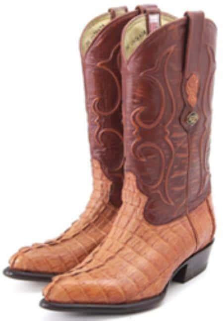 Caiman TaCognac Brown Vintage Los Altos Mens Cowboy Boots Western Riding