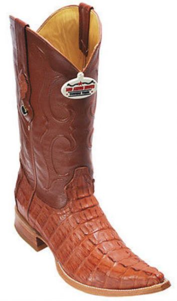 Caiman TaCognac Vintage Los Altos Mens Cowboy Boots Western Riding 340