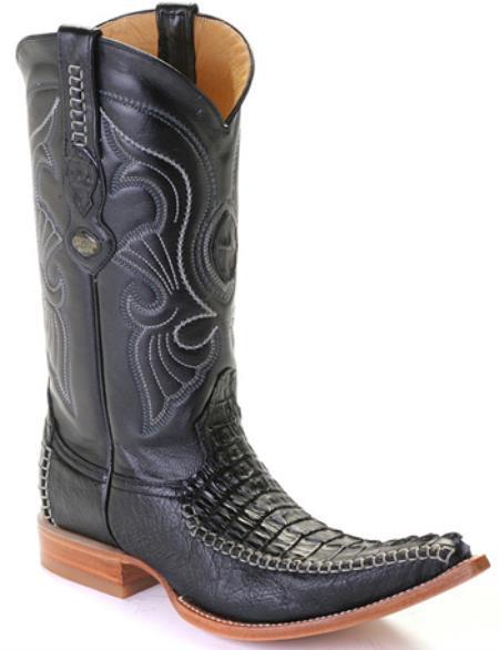 Caiman TaCroc Black Los Altos Mens Cowboy Boots Western Classics Riding 290