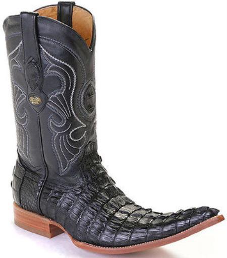 Caiman TaCroc Black Los Altos Mens Cowboy Boots Western Classics Riding 340