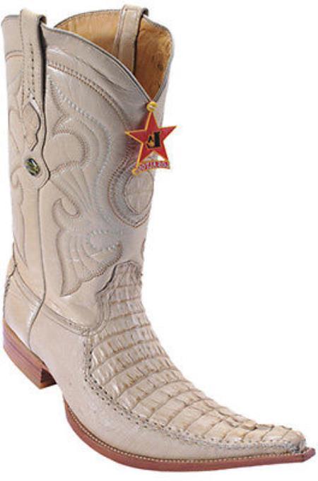 Caiman TaCroc Oryx Beiges Los Altos Mens Cowboy Boots Western Riding 290