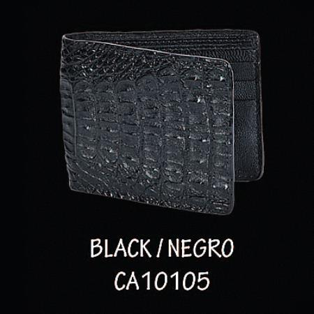 Caiman TaLeather Wallet by Los Altos Boots Black