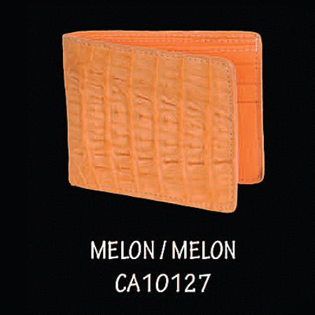 Caiman TaLeather Wallet by Los Altos Boots Melon