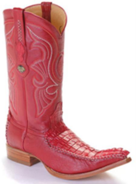 Caiman TaVintage Riding Red Los Altos Mens Western Boots Cowboy Classics 290