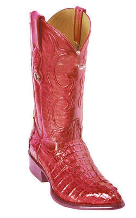 Caiman TaVintage Riding Red Los Altos Mens Western Boots Cowboy Classics