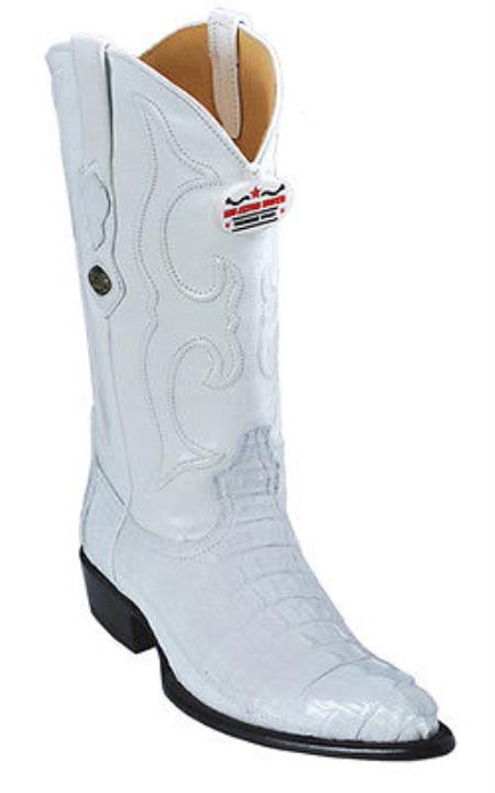 Caiman TaVintage White Los Altos Mens Cowboy Boots Western Classics Style