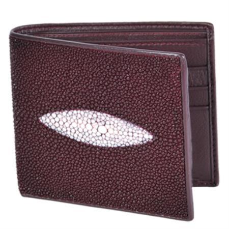 Cartera Mantarraya Perla Sencilla Mens Wallet Vino
