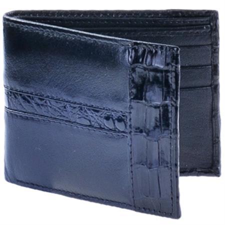 Cartera Piel con CaimanMens Wallet Negro
