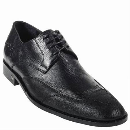 Cat Shark Skin Dress Shoe Black