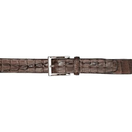 Chocolate Brown Hornback Belt