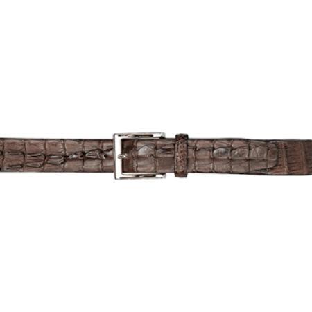Chocolate Brown Hornback Belt