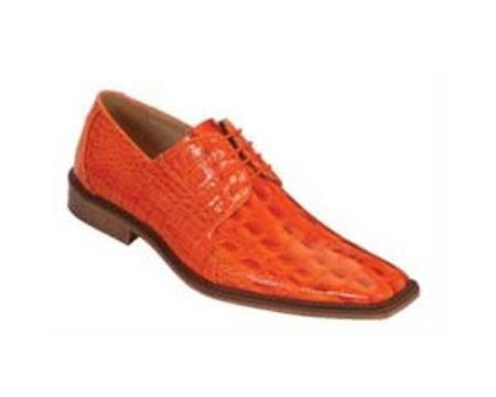 Classic comfortable latest in fashion Bright Orange Mens Dress Shoe