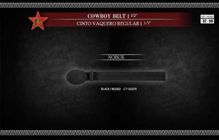 Cowboy Exotic Belt 1.5inch Nobuk Suede and Fashion Design by Los Altos