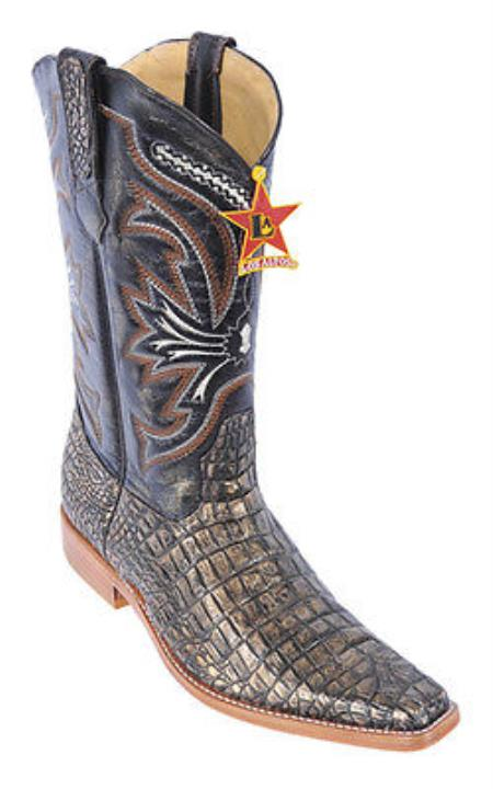 Croc Belly Print Copper Los Altos Mens Cowboy Boots Western Riding