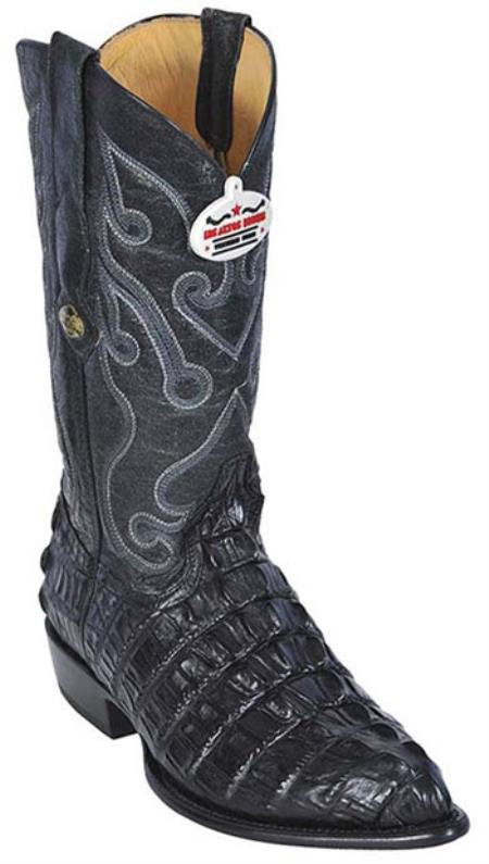 Croc TaPrint Black Los Altos Mens Cowboy Boots Western Classics Riding