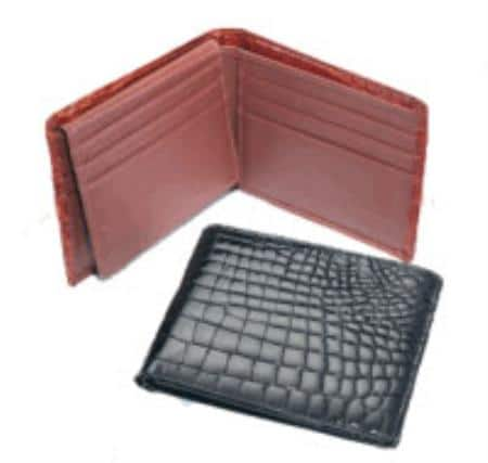 Crocodile Billfold Black,Cognac,Chocolate