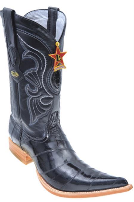 Eel Classy Black Los Altos Mens Cowboy Boots Western Classics Riding 205