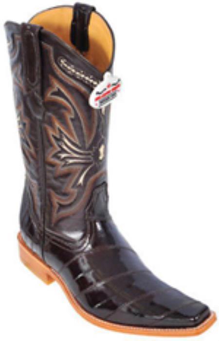 Eel Classy Vintage Brown Los Altos Mens Cowboy Boots Western Classics Style