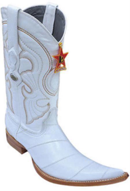 Eel Classy Vintage Riding White Los Altos Mens Western Boots Cowboy Classics 205