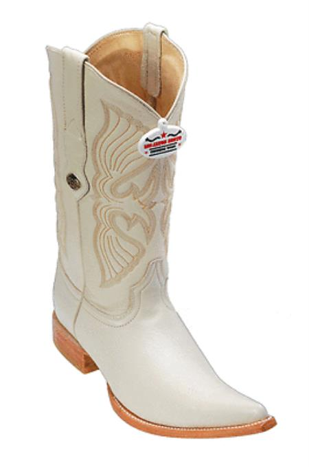 Elk Leather Winter White Los Altos Mens Cowboy Boots Western Classics Riding