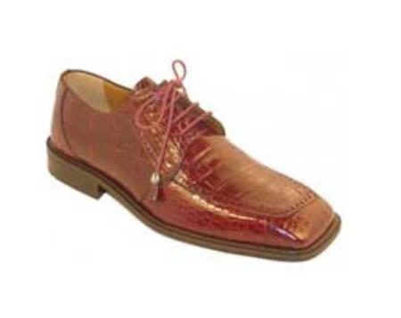 Ferrini Burgundy Genuine Alligator Shoes