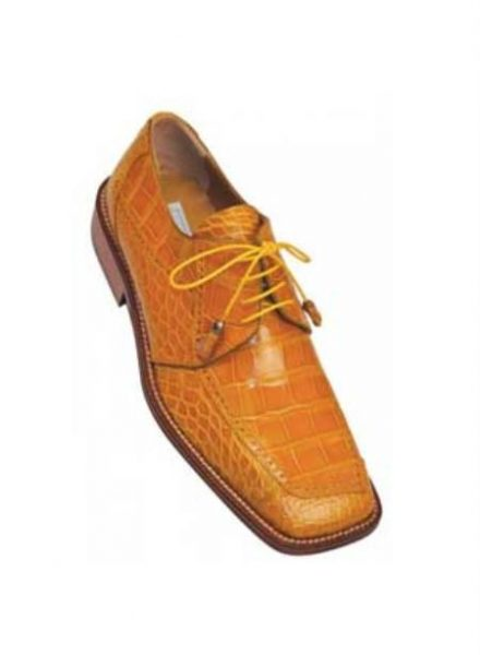 Ferrini Camel Genuine Alligator Shoes