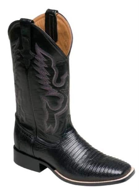 Ferrini Mens Cowboy Lizard S-Toe Boots