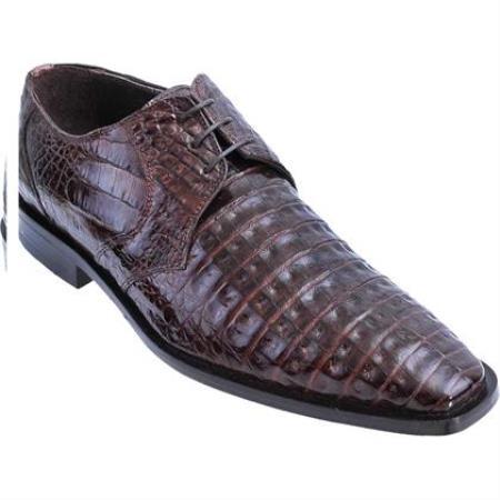Full Gator Belly Dress Shoe Brown