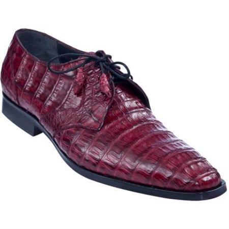 Full Gator Belly Dress Shoe Burgundy