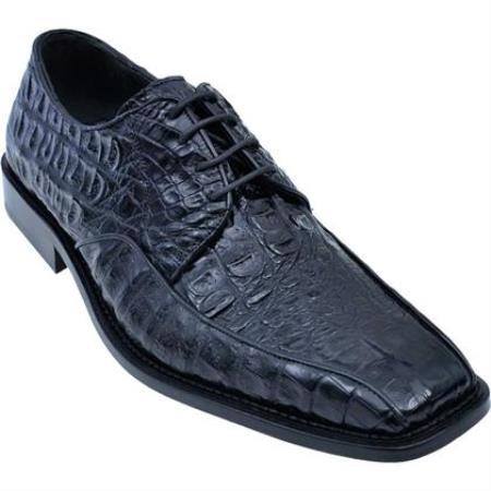 Gator Belly Dress ShoeExotic Los Altos Black