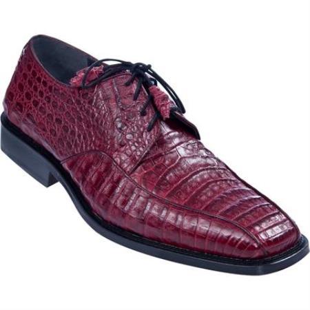Gator Skin Dress Shoe Burgundy