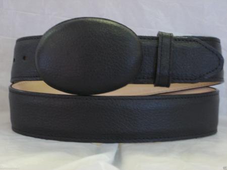 Genuine authentic black deer western cowboy belt