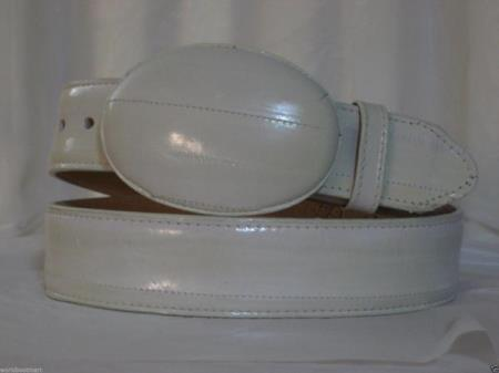 Genuine authentic bone eel skin western cowboy belt