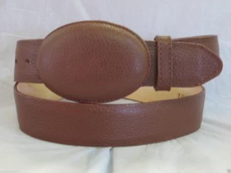 Genuine authentic brown elk western cowboy belt